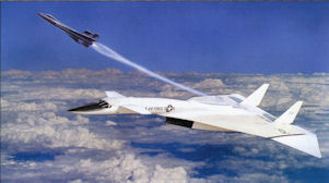 Illustration of Delta wing X-15 launched from XB-70