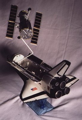 Hubble Space Telescope and Space Shuttle Orbiter (1/100)
