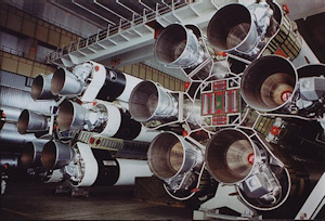Proton Rocket first stage engines in the Khrunichev Plant